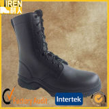 Black Genuine Cow Leather Barato de moda Militar Tactical Combat Boot