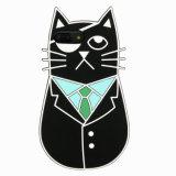 Caso sveglio di Mobilke Phonr del silicone del gatto del fumetto di modo