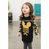 소녀의 인쇄되는 Mickey를 가진 긴 소매 t-셔츠 아이들 옷