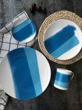 Articoli per la tavola senza piombo della tazza della bistecca di offerta speciale della lamina piana della glassa di ceramica
