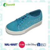 Canvas Shoes das meninas com Bead Decoration, EVA Sole
