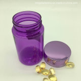 100ml color púrpura claro de plástico PET vacías frascos de boca ancha para la salud de cápsulas y uso de la Píldora con tapón de rosca