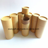 Пробка бумаги Kraft олова чая цилиндра кладет в коробку вокруг бумажной коробки