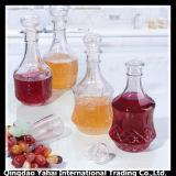 1000ml fijó la botella de cristal clara de vino con la tapa de cristal