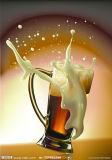 Het Drinken van het Glas van de vlotter Kop; De Kop van de wijn/Mokken/Fles (JINBO. 13)