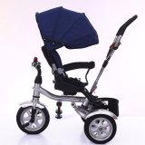 Triciclo de montagem fácil de Trike do bebê com barra do impulso