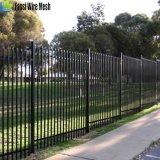 frontière de sécurité tubulaire en acier de fer ornemental en acier enduit de poudre de 2.1*2.4m pour le jardin