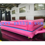 Indoor Sports pour adultes Piste gonflable Air Track PVC Coussin rose
