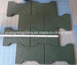Los azulejos de goma del patio, reciclan los azulejos de goma, azulejos de suelo de goma