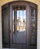 Mão clássica - ferro exterior agradável feito única porta com acessórios