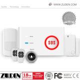 Alarme de la garantie à la maison WiFi/GSM avec la domotique sèche