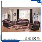 Insieme sezionale del sofà del cuoio genuino del salone dell'ufficio del nero di disegno moderno della Cina