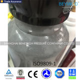 Gasfles van de Cilinder van de Stikstof van het Staal van China de Naadloze met Handvatten en Kleppen