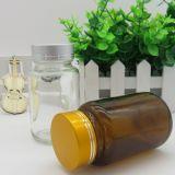 De amber en Transparante Fles van het Glas voor Geneesmiddel
