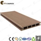 Plancher extérieur composé en plastique en bois de l'étage WPC (TW-02)