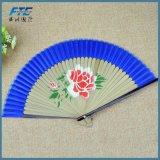 Ventilateurs en bambou de main de tissu de ventilateur de main de ventilateurs pliables chinois d'OEM