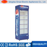 коммерчески стеклянный холодильник витрины холодильника безалкогольного напитка двери 158L