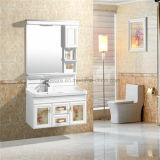 Armário de banheiro do PVC do banheiro da alta qualidade, bacia cerâmica