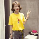 중국에서 편리한 여자의 t-셔츠 간결 소매