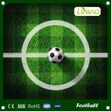 Het kleurrijke Tapijt van het Gras voor het BinnenTapijt van de Baan van het Gebied van de Voetbal