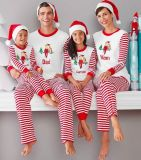 Het ouder-Kind van de Kleding van de Familie van de Pyjama's van de Familie van Kerstmis de Reeks van de Familie (18906)