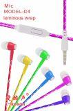 Светлый популярных порядка в ухо стерео-наушники с микрофоном