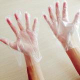 De Beschikbare Handschoenen van Plast van de Rang van het voedsel/Beschermende Handschoenen