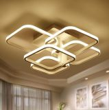 Quadratische Oberfläche eingehangene moderne LED-Deckenleuchten für Wohnzimmer-helle Vorrichtungs-Innendekoratives Lampenschirm-Hauptacryl