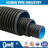 Vorteilhaftes Preis-Licht u. haltbares HDPE doppel-wandiges gewölbtes Rohr