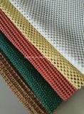 고품질 대중적인 자주색 양탄자는 PVC 코팅 거품 Non-Slip 매트로 밑에 있었다