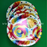 Placa de papel colorida para o jantar, partido, Picninc