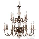 Candelabro com mármore, dispositivo elétrico de iluminação dourado do pendente do ferro (SL2260-6)