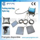 Acier/sac de poussée hydraulique pour le bloc en pierre de carrière