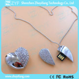 은 심혼 모양 보석 USB 펜 드라이브 (ZYF1901)