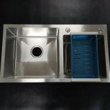 Bassin de cuisine fabriqué à la main d'acier inoxydable d'Undermount de 7843 bassins de premier support
