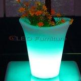 Le restaurant-bar Le Mobilier LED RVB éclairés Les Pots de fleurs contenant de vin