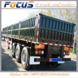 12,5m de contenedores de carga plana de la pared lateral semi remolque con cerraduras