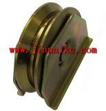 V rodillo del surco, polea de acero con el soporte del corchete, rodillo adentro con el rodamiento