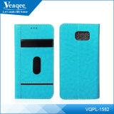 Оптовая торговля из кожи высокого качества для телефона Samsung S6 кромки