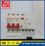 Protection contre les fuites de la terre45-63 RCCB MCB C 1P à 4p MCB Factory Direct Contact pleine bobine de cuivre argenté Shell Plasctic ignifugé