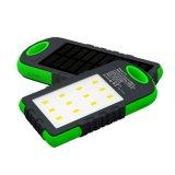 Corsa portatile esterna 5000mAh impermeabile, 8000mAh, 10000mAh, la Banca mobile di energia solare 12000mAh con gli indicatori luminosi del LED