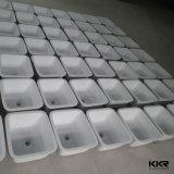 Corian Surface solide ovale Undermount évier de cuisine