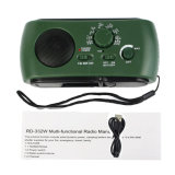 Portables Radio der Rd-332 LED MultifunktionsdringlichkeitsAm/FM Solar-/Dynamo angeschaltenes W/Flashlight