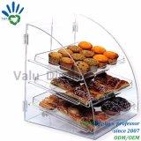 Boîte de rangement des aliments en acrylique personnalisée Zone d'affichage pour le pain