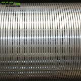 China envolta com arame Slot contínuo de água os tubos do filtro de tela para projetos de perfuração de poços de água