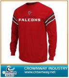 長い袖の高品質(CW-TS-46)のおかしい綿のTシャツ