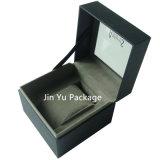 Contenitore impaccante del regalo di monili di cuoio neri Handmade di lusso della vigilanza