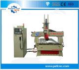 macchina di CNC 4axis con il commutatore dello Automatico-Strumento da lineare per la fabbricazione della mobilia