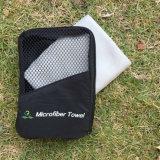 Peso ligero compacto Viaje Toalla de microfibra con bolsa de malla