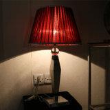 Светильник прикроватного столика тени античной гостиницы декоративный красный Silk